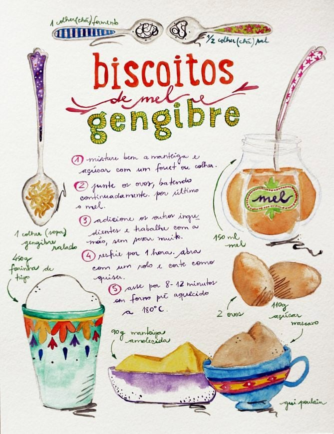 Biscoitos-de-Mel-e-Gengibre