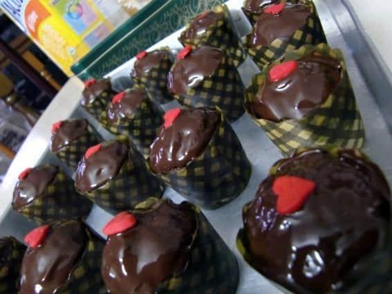 Queques-de-Arandos-e-Chocolate