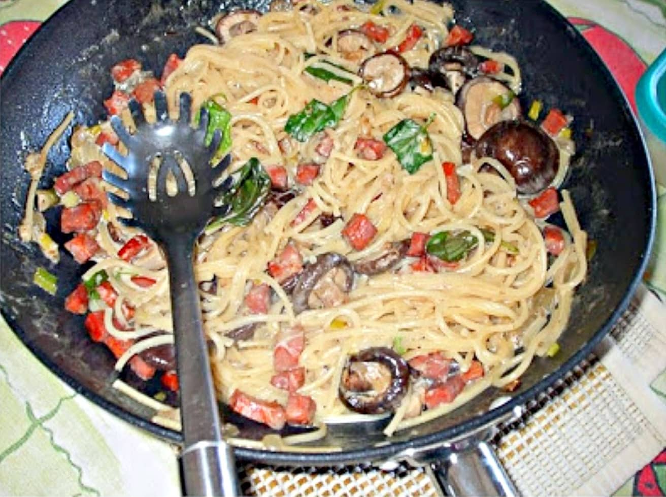 Receita-Esparguete-com-Cogumelos