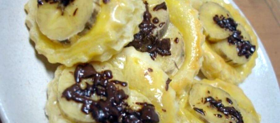Folhados-de-Banana-e-Chocolate